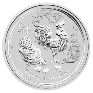 Perth Mint 2017 Lunar Rooster Silver Coin - 5oz