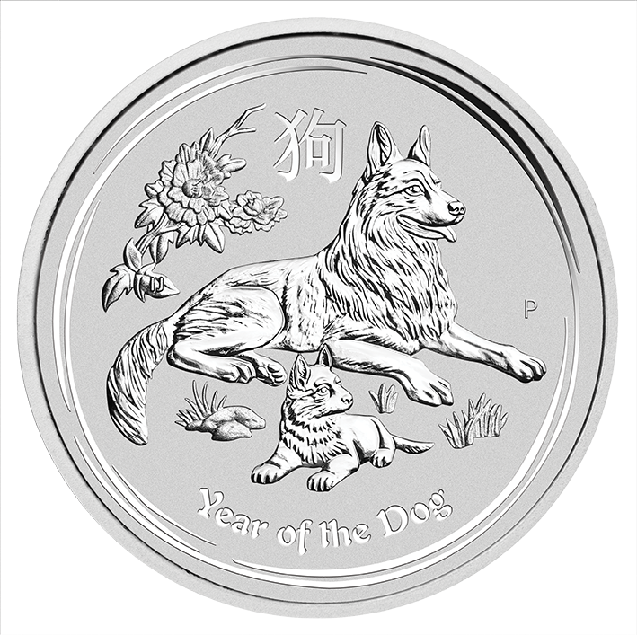 Perth Mint 2018 Lunar Dog Silver Coin - 10oz