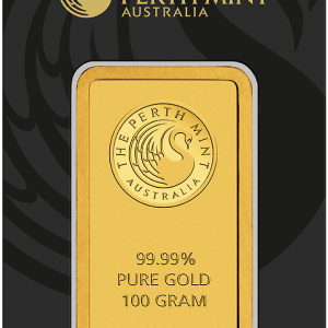 Perth Mint Kangaroo Gold Bar - 100g