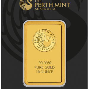 Perth Mint Kangaroo Gold Bar - 10oz