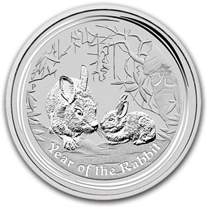 Perth Mint 2011 Year of the Rabbit Silver Coin - 2oz