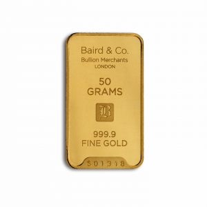 Baird and Co Minted Gold Bar - 50g