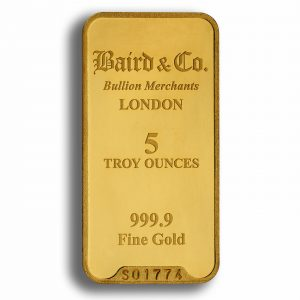 Baird and Co Minted Gold Bar - 5oz