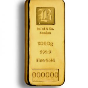 Baird and Co Cast Gold Bar - 1kg