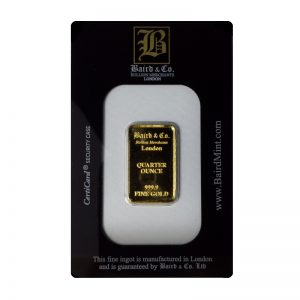 Baird and Co Minted Gold Bar - 1/4oz