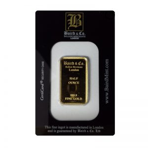 Baird and Co Minted Gold Bar - 1/2oz
