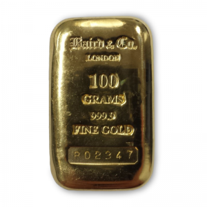 Baird and Co Cast Gold Bar - 100g