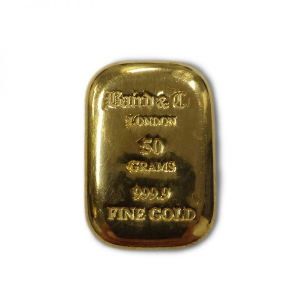Baird and Co Cast Gold Bar - 50g