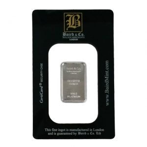 Baird and Co Minted Platinum Bar - 1/4oz