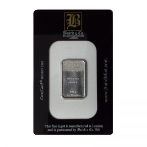 Baird and Co Minted Rhodium Bar - 1/4oz