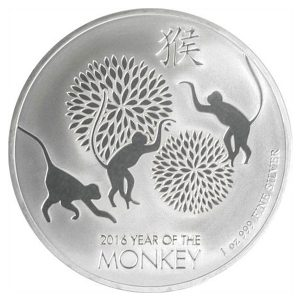 New Zealand Mint 2016 Lunar Monkey Silver Coin - 1oz