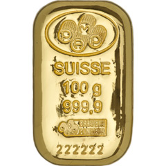 PAMP Suisse Cast Gold Bar - 100g