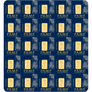 PAMP Suisse Multigram Gold Bar - Sheet (25g)