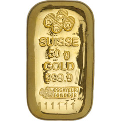 PAMP Suisse Cast Gold Bar - 50g