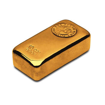 Perth Mint Cast Gold Bar - 10oz