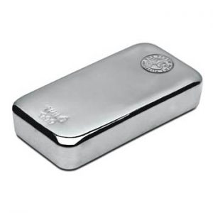 Perth Mint Cast Silver Bar - 1kg