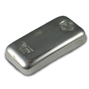 Perth Mint Cast Silver Bar - 10oz