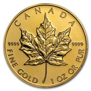 RCM Gold Maple Leaf Coin - 1oz (Buyback)