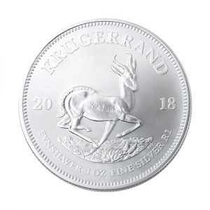 South African Mint 1oz Silver Bullion Krugerrand Coin