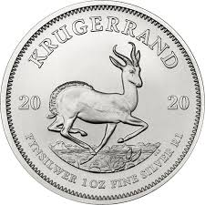 South African Mint Silver Bullion Krugerrand Coin - 1oz