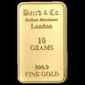 Baird and Co Minted Gold Bar - 10g