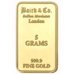 Baird and Co Minted Gold Bar - 5g