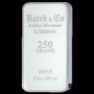 Baird and Co Minted Silver Bar - 250g