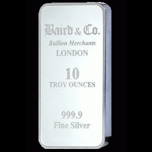 Baird and Co Minted Silver Bar - 10oz