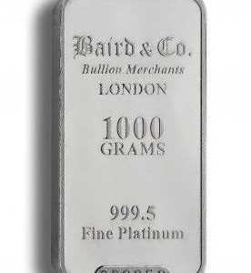 Baird and Co Minted Platinum Bar - 1kg