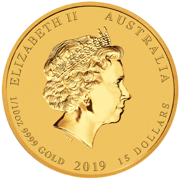 Perth Mint 2019 Lunar Pig Gold Coin - 1/10oz