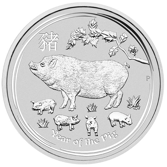 Perth Mint 2019 Lunar Pig Silver Coin - 1oz