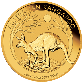 Perth Mint 2019 Kangaroo Gold Coin - 1/4oz