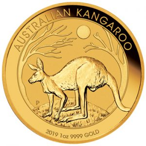 Perth Mint 2019 Kangaroo Gold Coin - 1oz