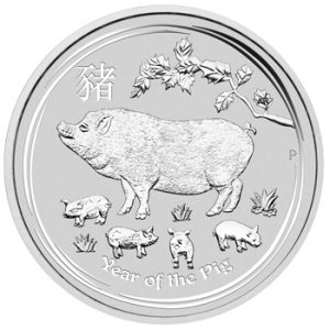 Perth Mint 2019 Lunar Pig Silver Coin - 5oz