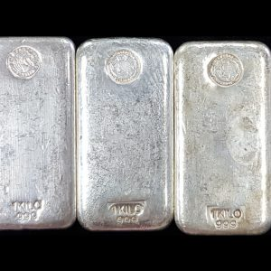 Perth Mint Cast Silver Bar - 1kg (BUYBACK)