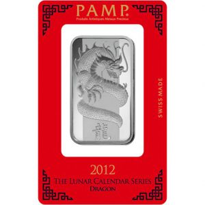 PAMP Lunar Dragon 1oz Minted Silver Bar