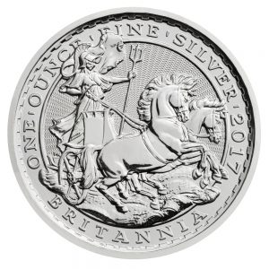 2017 Great Britain 1 oz Silver Britannia (20th Anniv Chariot)