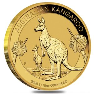 Perth Mint 2020 Kangaroo Gold Coin - 1/10oz