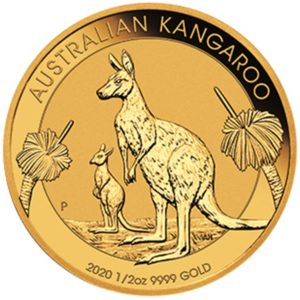 Perth Mint 2020 Kangaroo Gold Coin - 1/2oz