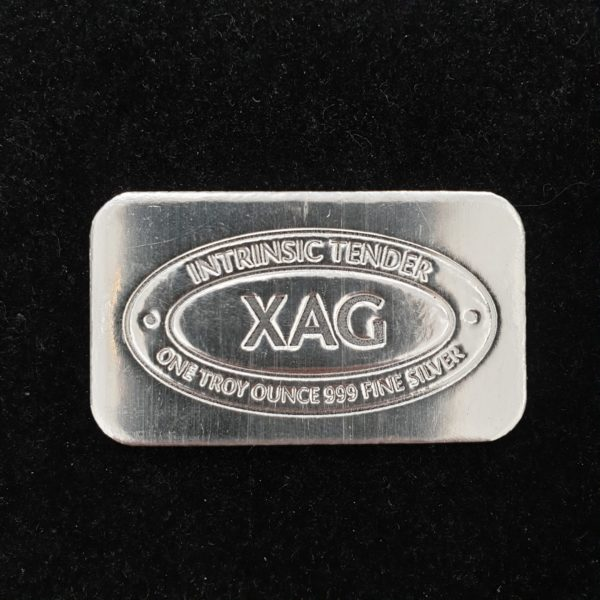 Intrinsic Tender XAG Cast Silver Bar - 1oz