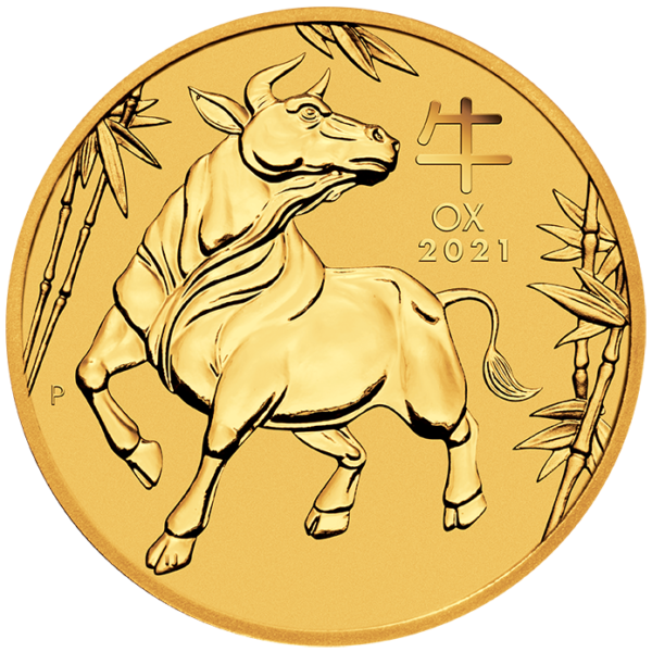 Perth Mint 2021 Lunar Ox Gold Coin - 1/20oz